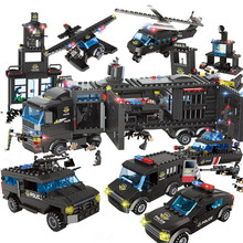 1095Pcs City Police SWAT Riot Special Police Commandos Building Blocks Sets LegoINGs Technic Juguetes Bricks Playmobil Kids Toys(China)