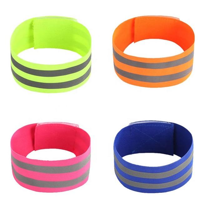 Reflective Bands Elasticated Armband Wristband Ankle Leg Straps Safety Reflector Tape Straps for Night Jogging Walking Biking 1