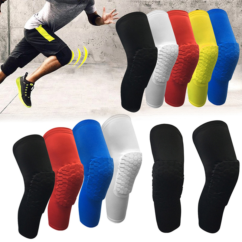 Crashproof Knee Pads Honeycomb Breathable Anti-Collision Sports Protective Gear For Volleyball Basketball Climbing Cycling J55