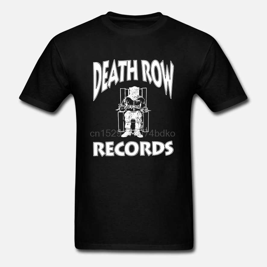 Shotdeadinthehead oficial Death Row registros Logo Pocket Print camiseta para hombre de moda