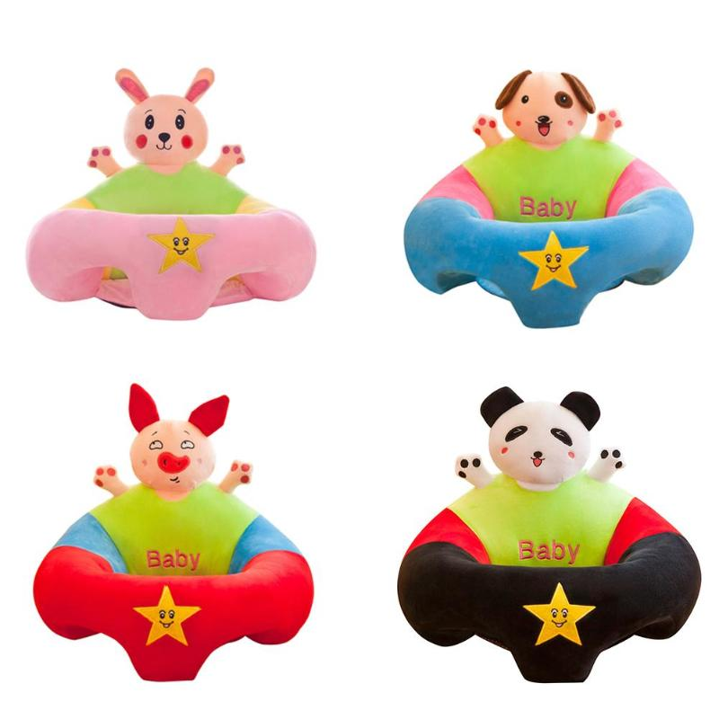 Baby Cartoon Sofa Cover Anti-fall Infant Chair Learning To Sit No Filling