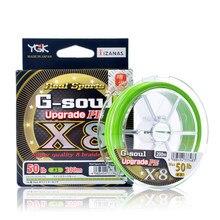 Ygk G-SOUL x8 atualização pe 8 trança multifilamento pe linha de pesca 150m 200 pe linha japão importados bens de alta qualidade
