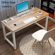 43 #8243 Computer Laptop Desk Modern Style Computer Wooden Table MDF Board Steel Frame Standing Desks for Home Office Living Room cheap CN(Origin) Computer Desk Commercial Furniture Home Office China PC Desk Pure School Furniture 110x60x74CM 43 3x23 6x29inch