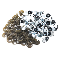 60 piezas forma ovalada ojos de seguridad de plástico para Oso De peluche, muñeco Animal títere artesanal muñeca haciendo accesorios suministros de artesanía 20x13mm