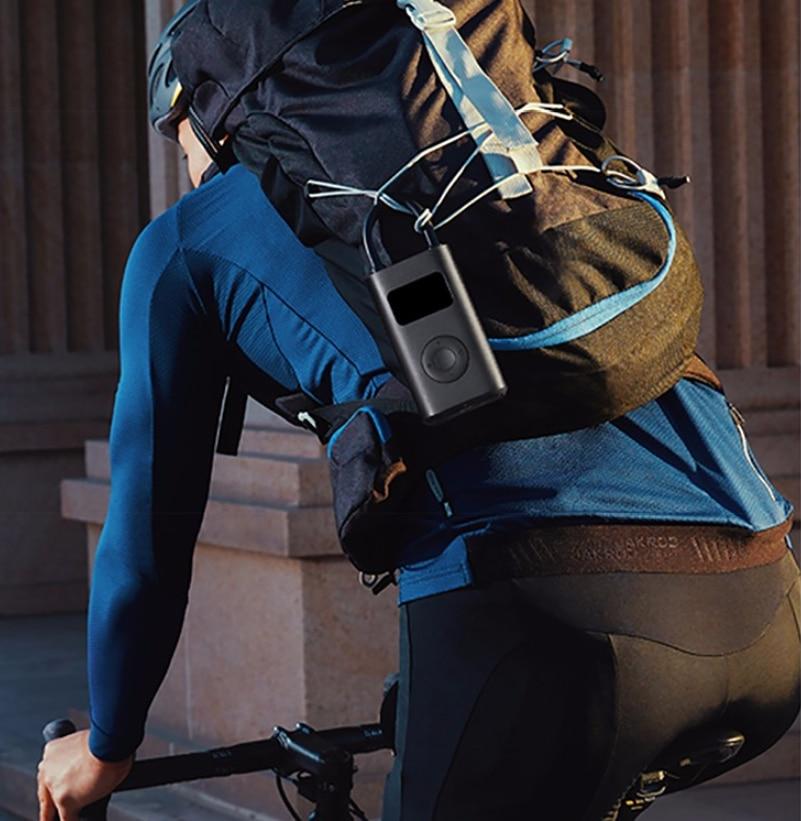 lowest price Original Xiaomi Mijia Inflator Portable Smart Digital Bike Tire Pressure Sensor Electric Pump For Bike Motorcycle Car