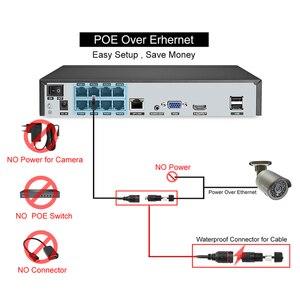 Image 5 - Techage H.265 8CH 1080P HDMI POE NVR Kit système de sécurité CCTV 2.0MP IR enregistrement Audio extérieur caméra IP P2P ensemble de Surveillance vidéo