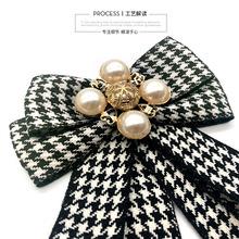 European And American-Style Bowtie Double Layer Bow Black White Thousands of Birds Sub-Bow Tie Women's JK Uniform Cl