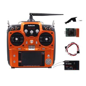 Image 5 - RadioLink AT10 השני 2.4Ghz 12CH משדר עם R12DS מקלט PRM 01 מתח להחזיר מודול סוללה עבור RC Quadcopter קבוע כנף