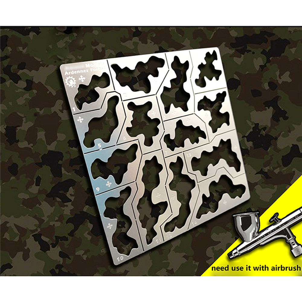General Forest Camouflage Stenciling Template Leakage Spray Plate AJ0032 For 1/35 1/100 Gundam Military Model Building Tools