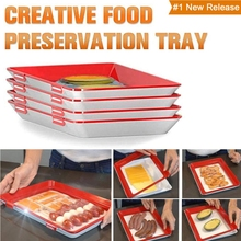 Kitchen Containers Food Storage Trays Fruit Vegetable Preservation Marble Serving Clever Tray Creative Plastic