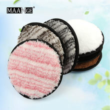 MAANGE Duplex Fiber Make up Makeup puff Lazy Makeup Remover Beauty Cosmetic Facial Face Powder Puff make up beauty tools(China)