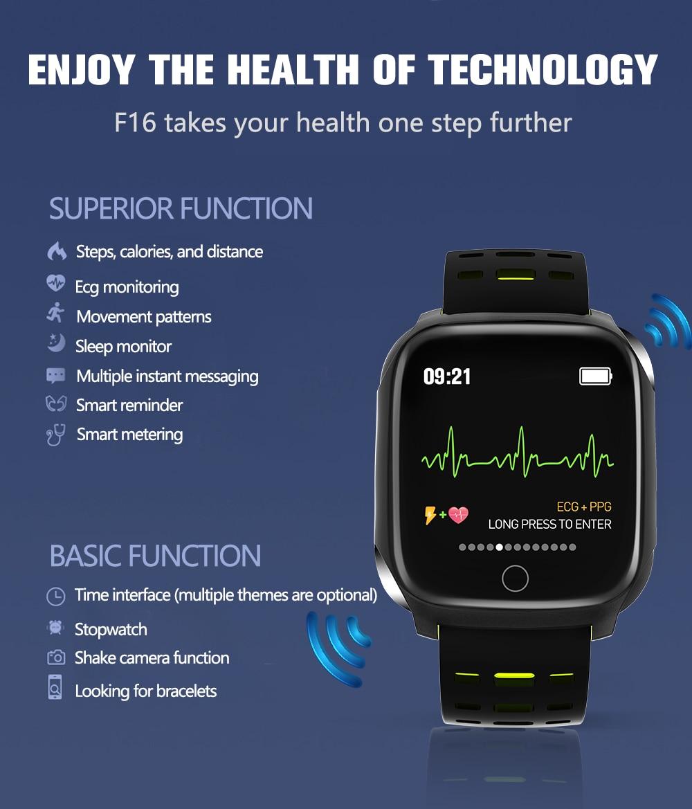 696 f16 pulseira inteligente freqüência cardíaca pressão