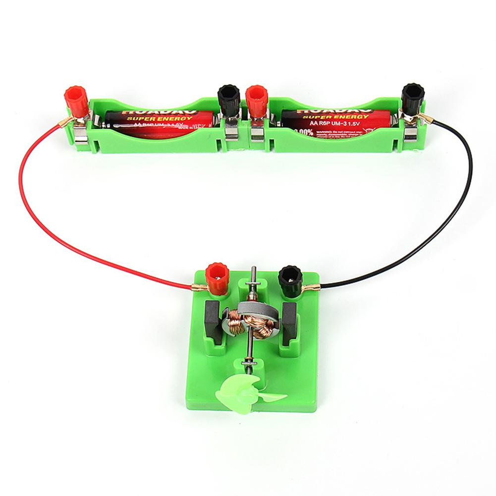Direct Current Motor Model With Fan Physical Circuit Experiment Kids Educational Toy Designed For Kids Entertainment Great Gifts