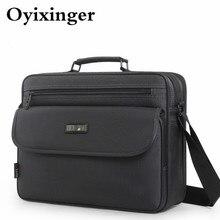 OYIXINGER serviette de styliste pour hommes, sac à main de bonne qualité Business, sac à bandoulière, mallette pour homme