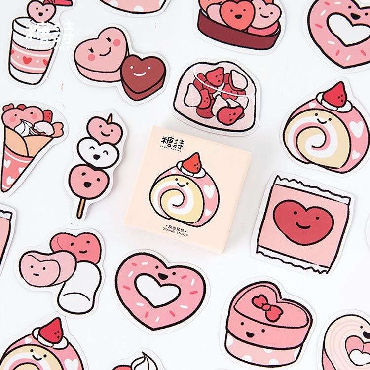45 Pcs/lot Sweet Cake Food Bullet Journal Decorative Stationery Mini Stickers Set Scrapbooking DIY Diary Album Stick Lable