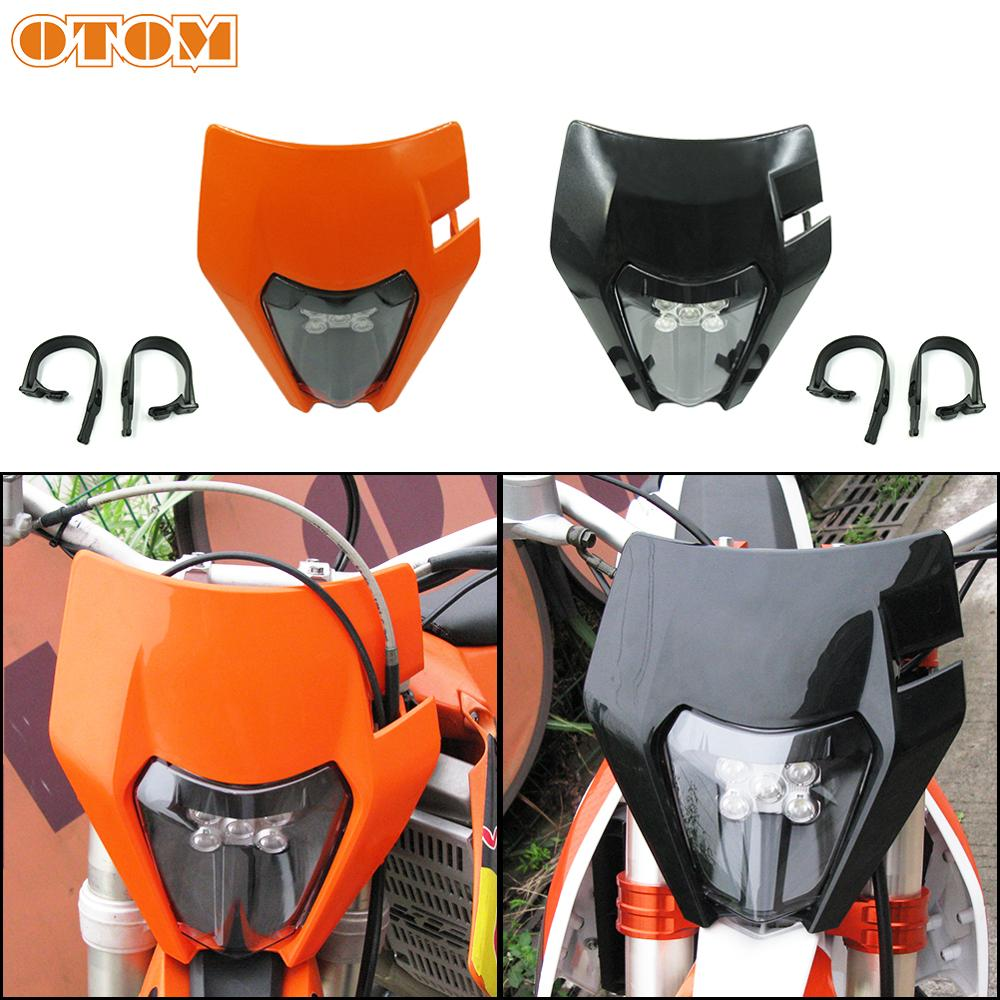 OTOM LED Motorcycle Headlight Headlamp 6000K Super Bright Scooters Spotlight With Anti-vibration Rubber Strip For KTM Husqvarna