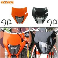 OTOM LED Motorcycle Headlight Headlamp 6000K Super Bright Scooters Spotlight With Anti vibration Rubber Strip For KTM Husqvarna