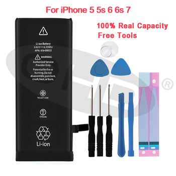 10 Pcs/Lot wholesale battery For Apple iPhone 6S 6 7 5S 5 Replacement Mobile Batteries For iphone 5 5s 6 s