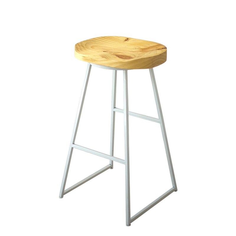 Nordic Modern Simple Family Bar Chair Iron Solid Wood Creative Fashion Coffee   Stool