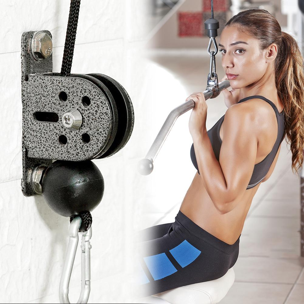 Silent Pulley Single Block Stainless Steel Swivel Nylon Tank Lifting Rope Pulley Silent Roller HOME Gym Exercise Accessories