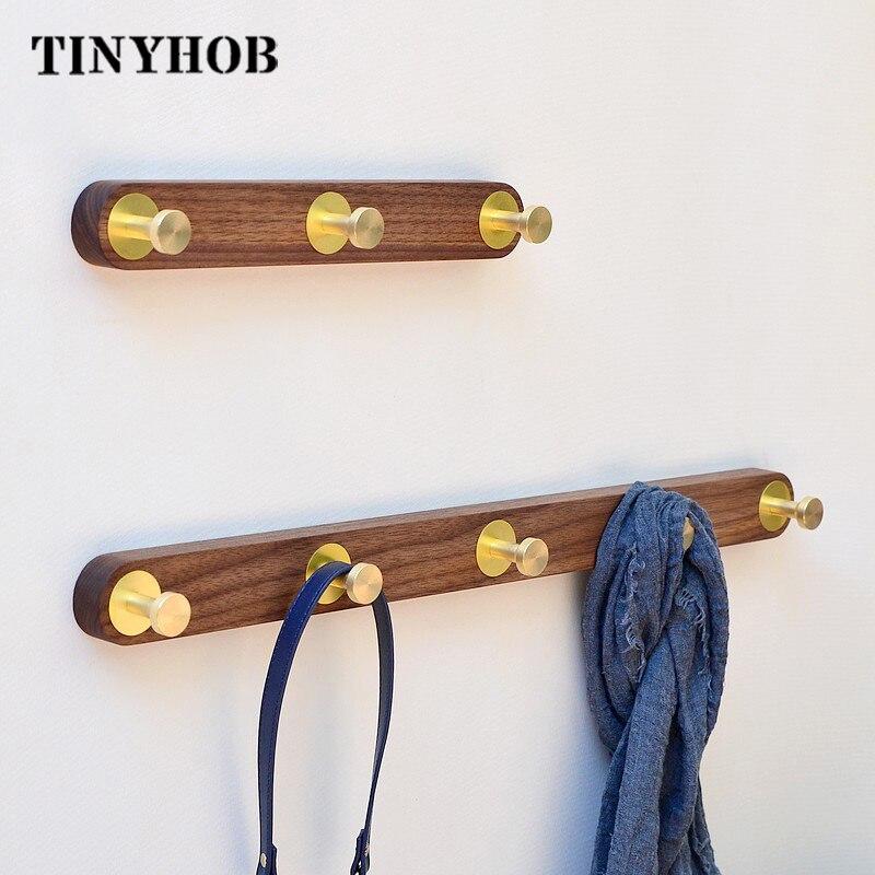 3Holes Nordic Style Solid Wood Hook Door Hanger Wall Hanging Rack Decorative Coat Key Storage Hooks Beech Wood Rack furnishing