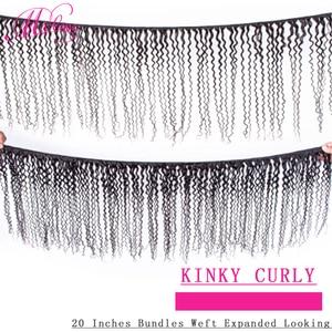 Image 2 - ジェリーカール人毛 1 3 4 バンドル自然な色非レミーカーリーブラジルヘアエクステンション 100 グラム/バンドル毛織りバンドル