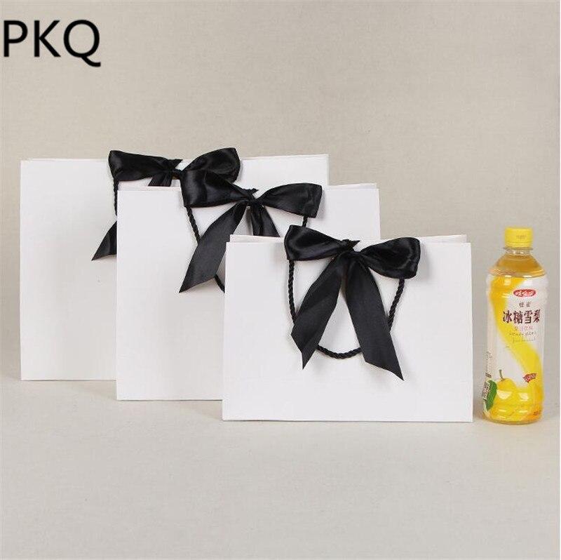 15 pcs/lot haute qualité papier cadeau sac Kraft papier sac avec poignées de mariage fête d'anniversaire cadeau paquet sac grand présent sacs