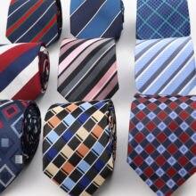 Clássico 8cm masculino gravata moda poliéster gravata xadrez listrado gravata negócios magro camisa acessórios paty presente cravate