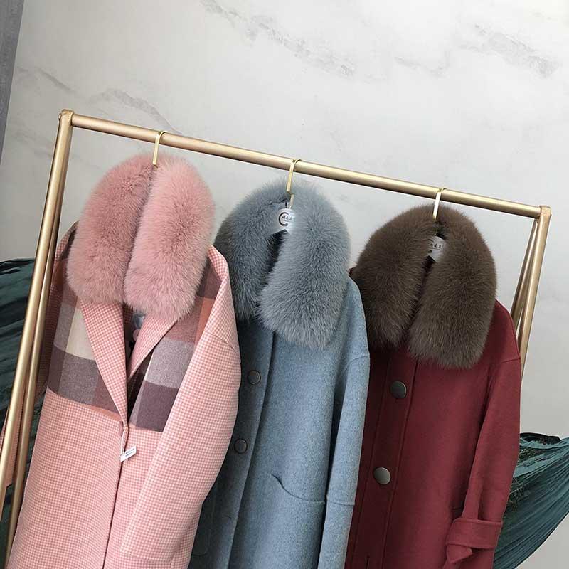 Free Shipping Real Fox Fur Collar Women 100% Natural Fox Fur Scarf Winter Neck Warmer Jacket Fur Collar Short Style