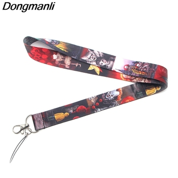 PC144 Wholesale 20pcs lot Ghost Lanyards For keychain ID Card Pass Gym Mobile Phone USB Badge