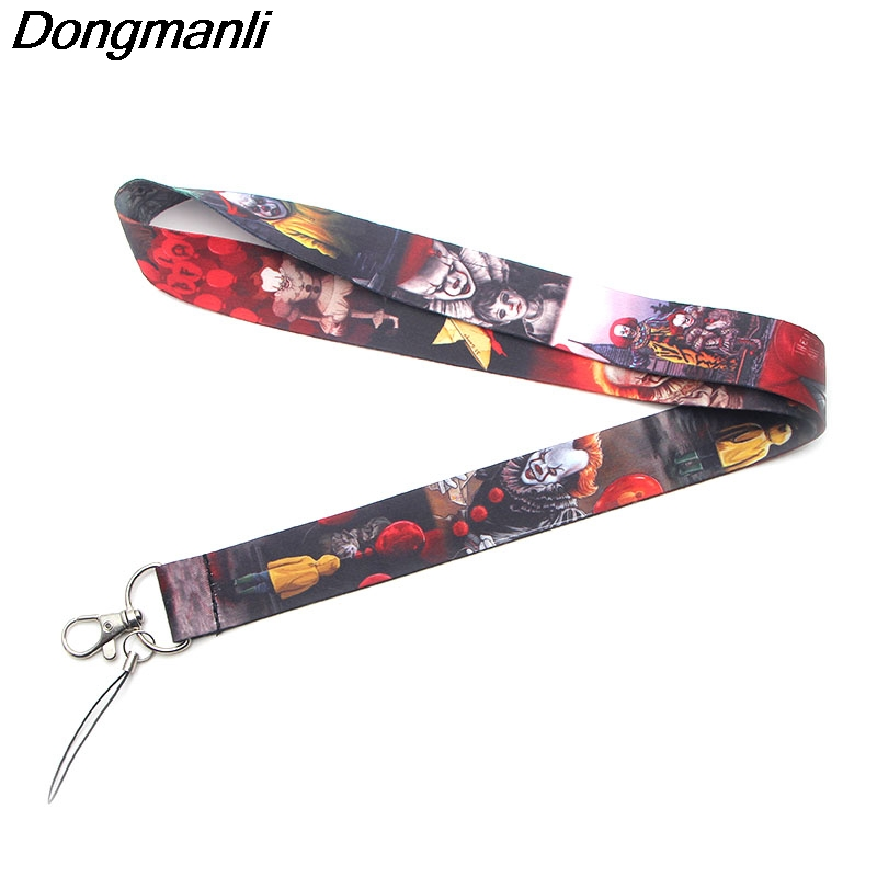 PC144 Wholesale 20pcs lot Stephen King s IT Lanyards For keychain ID Card Pass Gym Mobile