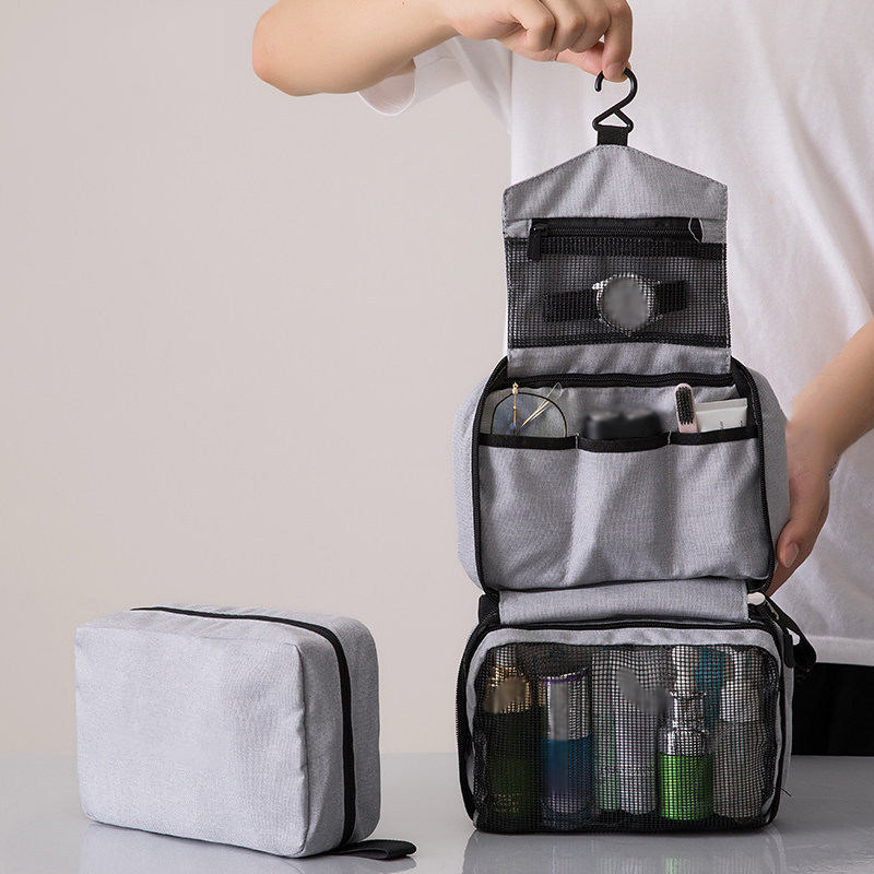 Portable Foldable Hanging Travel Toiletry Bag For Men And Women Makeup Bag Cosmetic Bag Bathroom And Shower Organizer For Female