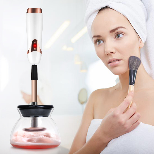 Electric Wash Makeup Brush Dryer Cleaner Device 10 Seconds Convenient Make up Brushes Washing Cleanser Cleaning Machine Tool 1