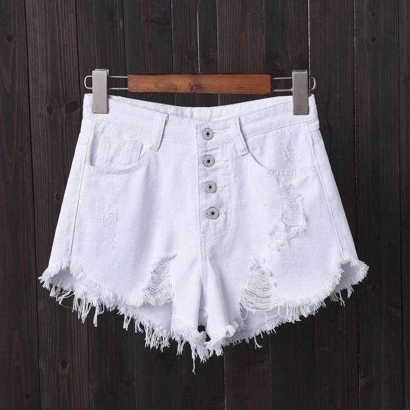 NiceMix 2020 Size Jeans High Waisted Shorts <font><b>Femme</b></font> Denim Shorts Summer <font><b>Sexy</b></font> Woman Denim Short Pants Mujer S~ XXXL 4XL <font><b>5XL</b></font> 6XL image