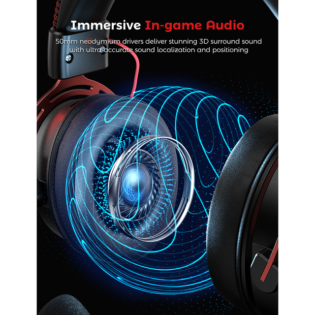 Air SE Gaming Headset Wired Surround Sound Gaming Headphones with Noise Cancelling Mic In-Line Control for PC 3
