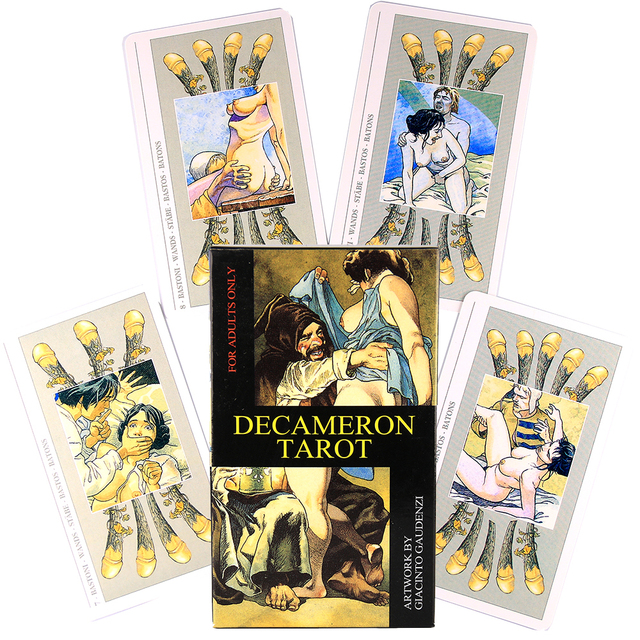 Decameron Tarot del Fuego Cards Tarot Deck Oracles Game Linestrider Dreams Toy Divination Star Spinner Muse Hoodoo Occult Ride 1