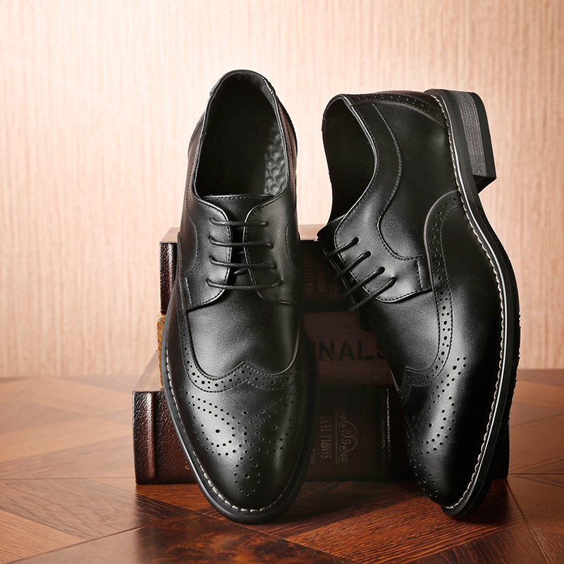 2020 Men Leather Shoes Casual Genuine Leather Fashion Designer Luxury High Quality Men Brogue Shoes