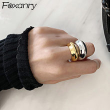 Foxanry – bagues ajustables en argent Sterling 925, minimaliste, pour femmes, Design créatif, à la mode, bijoux de fête d'anniversaire, cadeaux