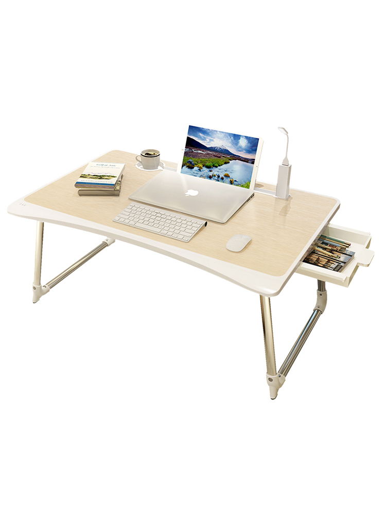 Bed Computer Lazy Person Can Fold Small Desk, Desk, Household Dormitory, Rental House, Modern Transformation Of Students'simplic