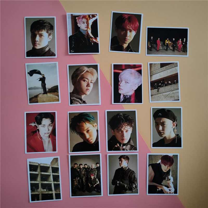 16Pcs set KPOP EXO Team 11 Album Universe The War Collection HD Photo Card PVC Cards.jpg q50