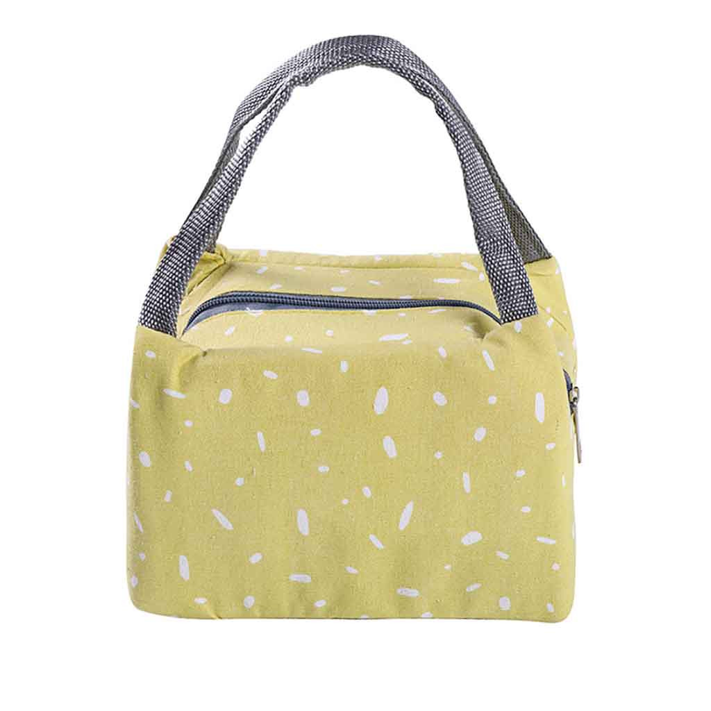 Lunch Bag Functional Pattern Cooler Lunch Box Portable Insulated Food Storage Bag Portable Travel Working Bento Box for Women P