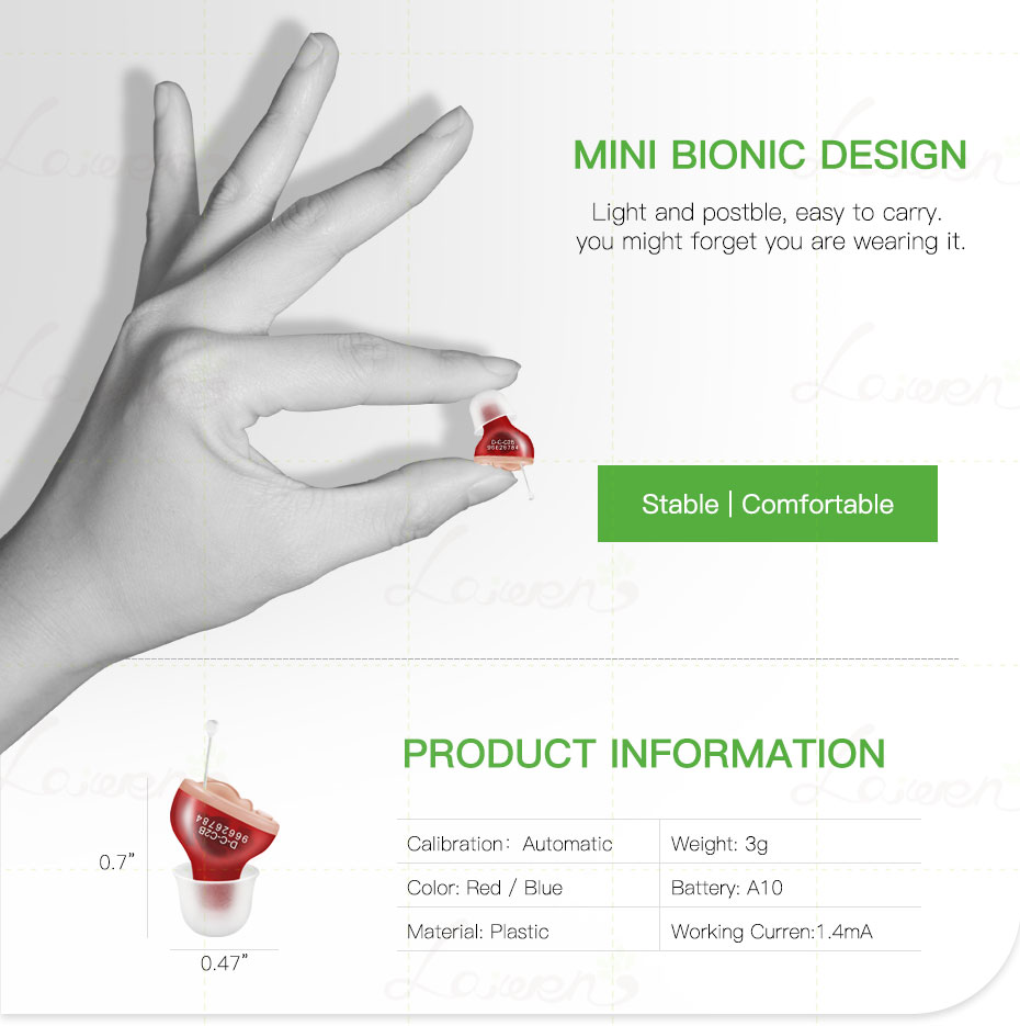 Portable Inner Ear Hearing Aid Invisible Hearing Aid Digital Mini Hearing Device Sound Hearing Amplifier 3