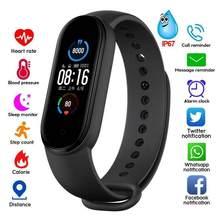 M5 relógio inteligente monitor de freqüência cardíaca 5atm à prova dwaterproof água quente esportes rastreador smartwatch jogar música pulseira m5 banda para adriod ios tslm1