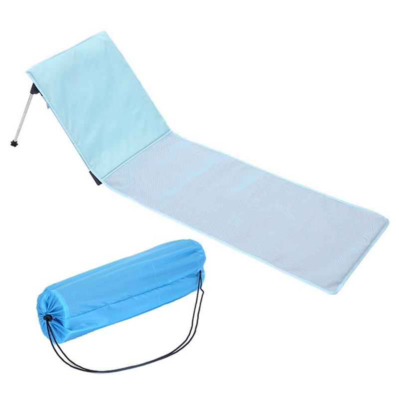 Outdoor Foldable Beach Chair Portable Breathable Aluminum Sun Lounger For Home Outdoor Garden Chair Bed Foldable Deck Chair Sofa