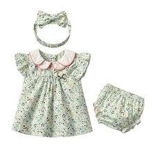 Yg marca roupa das crianças, verão bebê algodão terno das crianças, floral lapela roupas de bebê, linda princesa saia