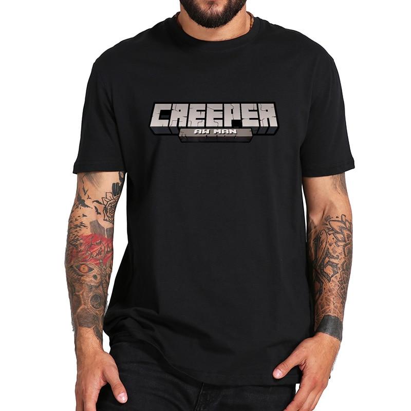 100% Cotton T Shirt Creeper Aw Man Revenge Lyric Game Lover Cool Tshirt Digital Print Breathable Crew Neck Black Tops Tee
