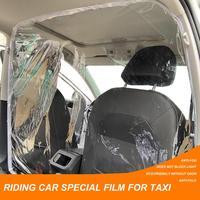 Transparent Auto Anti Tröpfchen Proof Isolation Bildschirm PVC Schutz Film Vorhang Für SUV Auto Taxi Driver Passagier Auto Vorhang auf