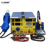 SAIKE 909D+ Hot Air Gun Soldering Station Power Supply Desoldering Station 3 in 1 Hot Air Welding Platform hot air heat gun