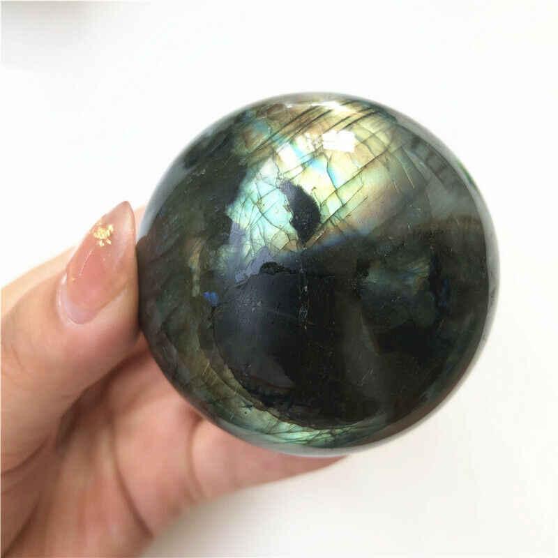 100% טבעי מדגסקר הטבעי ברדוריט קוורץ קריסטל כדור כדור ריפוי קריסטל חן 36-60mm