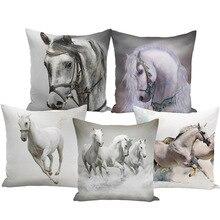 Coperte E Plaid Cuscino Bts Caso 45x45 Animal Print Guerra Cavallo Bianco Fodere Per Cuscini Set Per La sedia Divano di Casa Decorativi Agriturismo decor